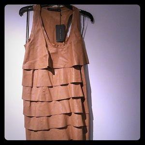 Zara Genuine Leather Dress